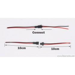 Conector cableado JST SM 2P