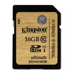 Kingston Ultimate SDHC 16GB Clase 10 UHS-1