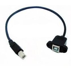 Cable USB Macho + Hembra 50cm Empotrable